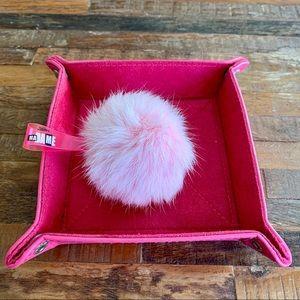 💕 BN Jean Paul Gaultier Faux Fur Pom Pom - Rare